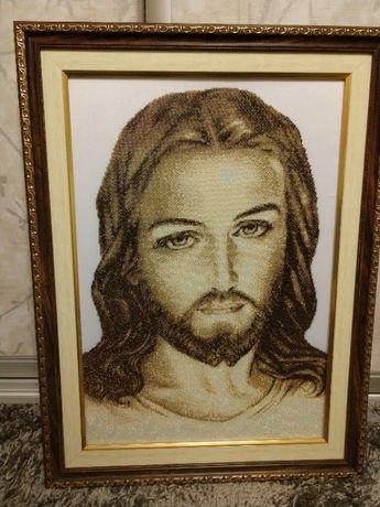 Образ бісер Ісус Христос. Икона бисер Иисус Христос. НОВИЙ!!!