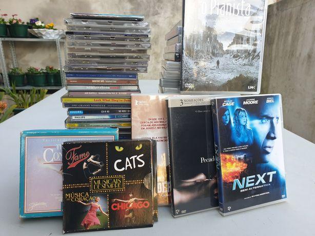 Lote de DVD's e CD's originais