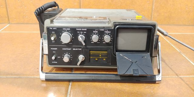 Radio Telewizor JVC 3050 Kineskopowy CRT Made In Japan 1976 Retro