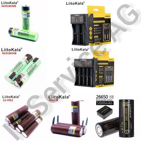 аккумулятор зарядное Liitokala 18650 26650