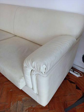 Sofa 3 lugares pele sintética