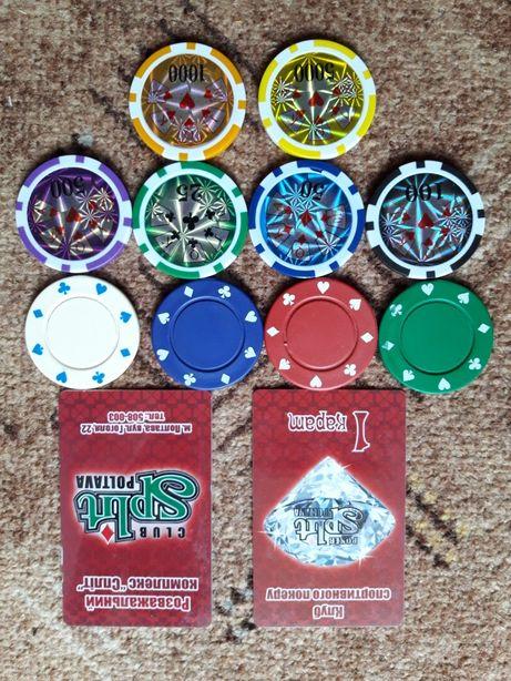 Игральные фишки казино покер