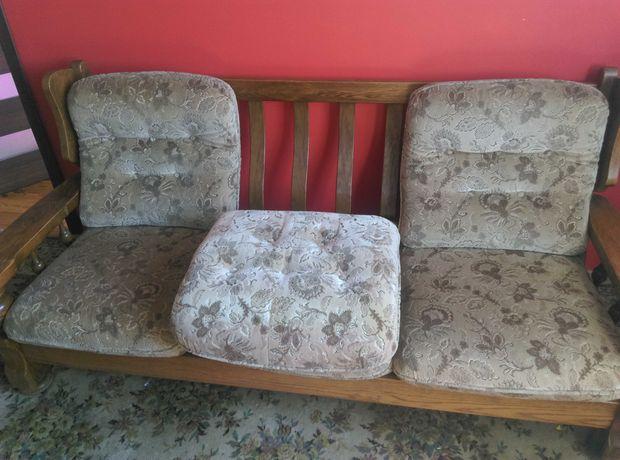 Drewniana Sofa 3+1