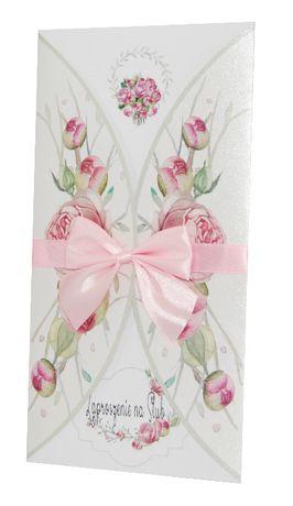 Zaproszenia ślubne, na wesele - kolekcja FLOWERS 01 + koperta