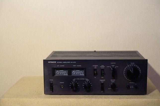 Красивый HI-FI усилитель 70-х HITACHI HA-270 (транзисторы МЕТАЛЛ)