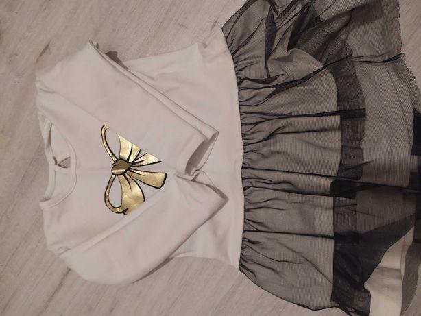 Sukienki 92,spodnie, bluzka.