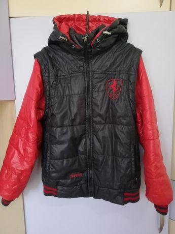 Куртка Ferrari, три в одном, демисезонная на мальчика 38 размер