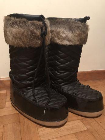 Snowboots Barts Fur Boots Black śniegowce buty z futerkiem moonboots