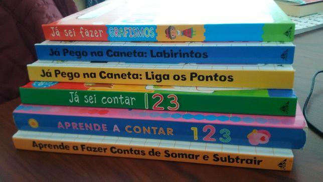 Conjunto de 6 livros de trabalho infantis