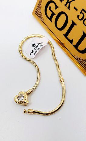 Złota bransoletka próba 585 Długość 19 cm waga 8.32 gr
