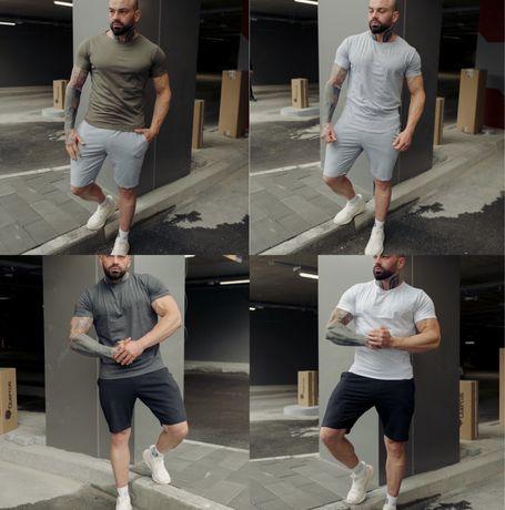 Мужской летний комплект футболка + шорты | Спортивный костюм на лето