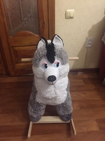 Игрушка качалка. Волк