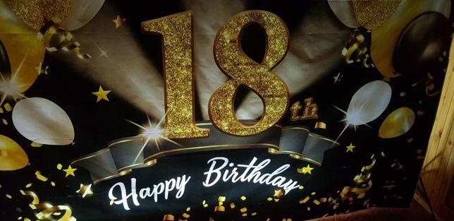 Tło na 18 urodziny,ścianka do zdjęć na 18 urodziny wypożyczenie