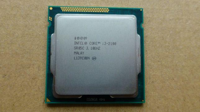 Процесор Intel Core i3-2100 з кулером, який має мідну вставку S 1155