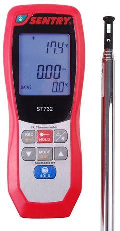SENTRY Anemometr ST732 HOT WIRE pirometr temp. USB