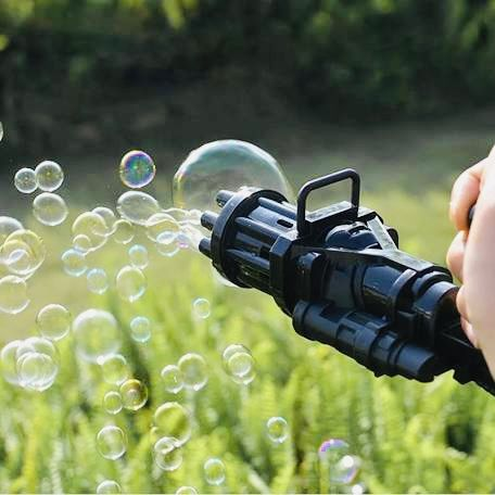 Автоматическая игрушка-пулемет для создания мыльных пузырей Bubble Gun