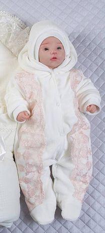 Зимний комплект для новорожденной девочки на выписку