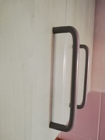Uchwyt meblowy kuchenny do szafki szary/srebrny metalowy modern loft