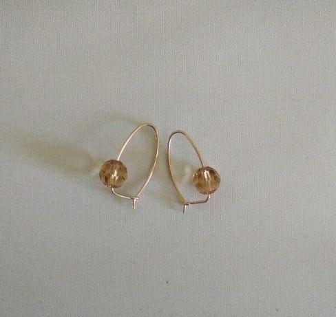 kolczyki złote 14k z kryształkami Swarovski