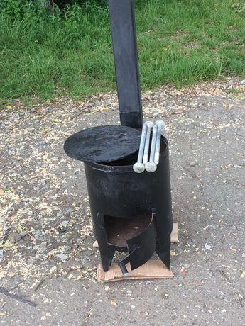 Пічка на дровах (під казан)