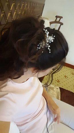 Прикраси весільні (в волосся, сережки)