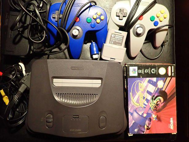 Consola Nintendo 64 c/ 2 Comandos + Rumble Pack + Jogo