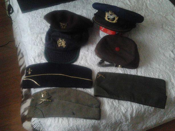 boina militar+ chapéu F.A. +boné GNR+ bivaques tropa+ chapéu pupilos