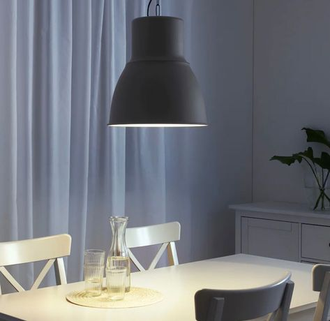 Candeeiro preto grande IKEA