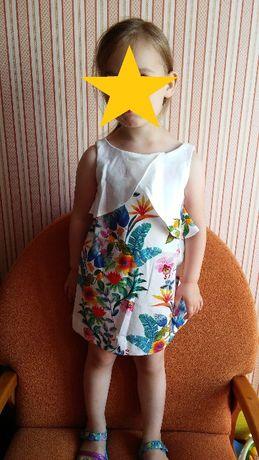 Nowa sukienka w kwiaty Zara 98 104 na ślub wesele