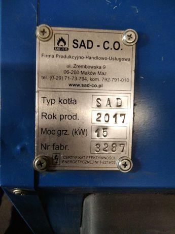 kocioł piec wielopaliwowy SAD-CO producent 15 kw z 2017 r.