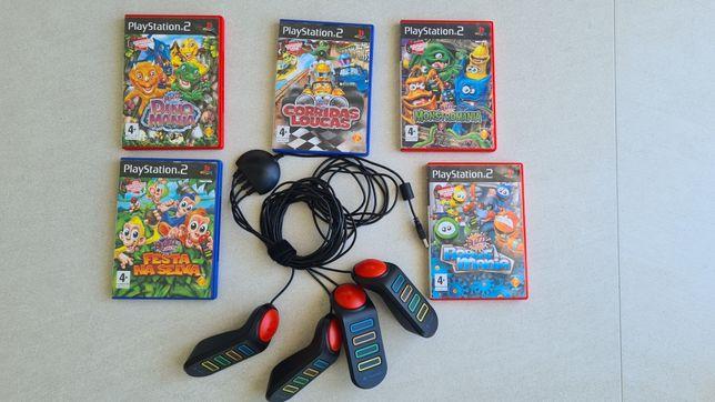 Campainhas Buzz mais 5 Jogos PS2
