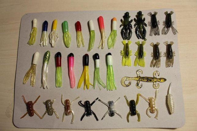 Продам силиконовые рыбацкие приманки, жучки, рачки, осьминожки
