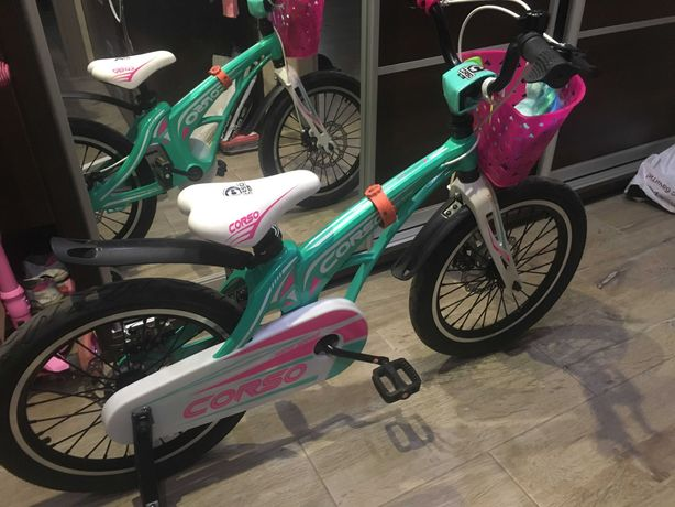 "Велосипед 18"" Corso светло-бирюзовый"