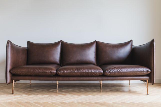Sofa skórzana SLANK mid century modern duński styl