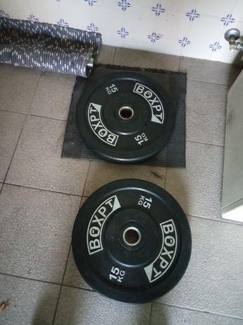 Bumpers 15 kg usados