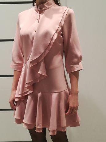 Sukienka elegancka święta , wesele, chrzest, komunia Lila Lou roz S