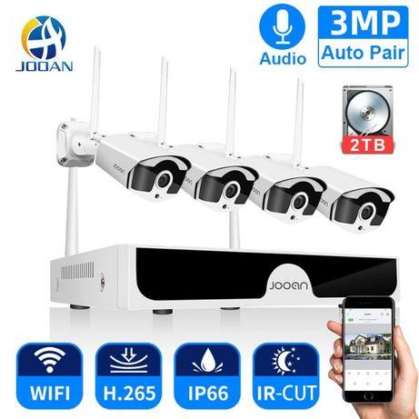 Sistema Vídeo Vigilância WIFI Profissional 4 Cameras Exterior 2160P