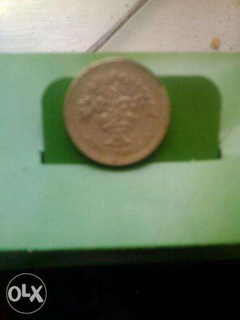 Монета Elizabeth    D.G.REG.F.D.1992