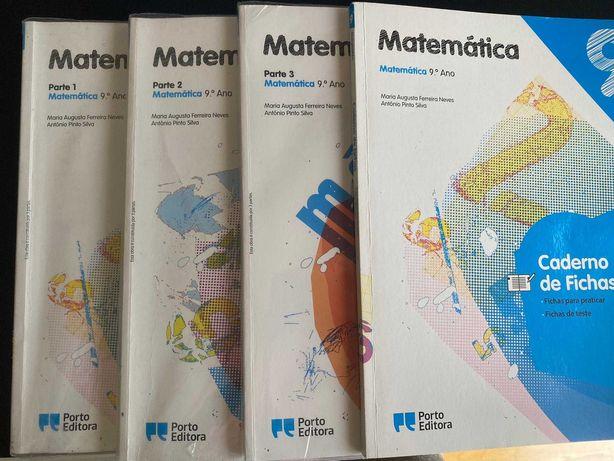 Manuais + Caderno de Fichas MATEMÁTICA 9 ANO