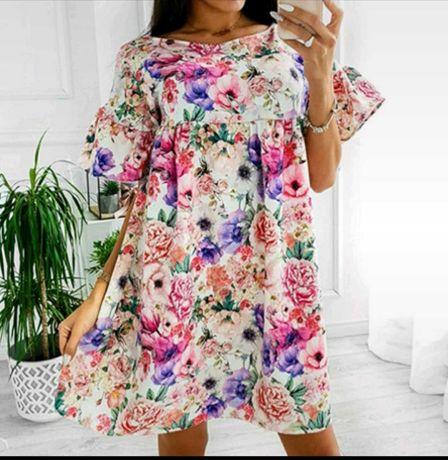Zjawiskowa sukienka w kwiaty