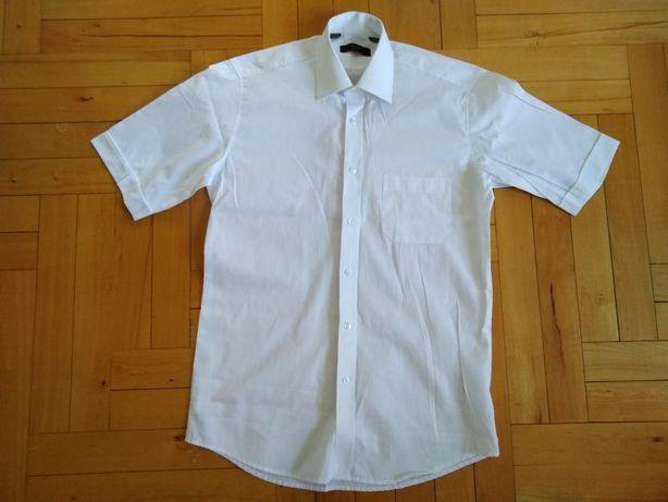 Śnieżnobiała, biała koszula elegancka 38, nowa 176/182