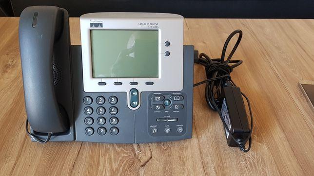 Telefon stacjonarny Cisco z zasilaczem