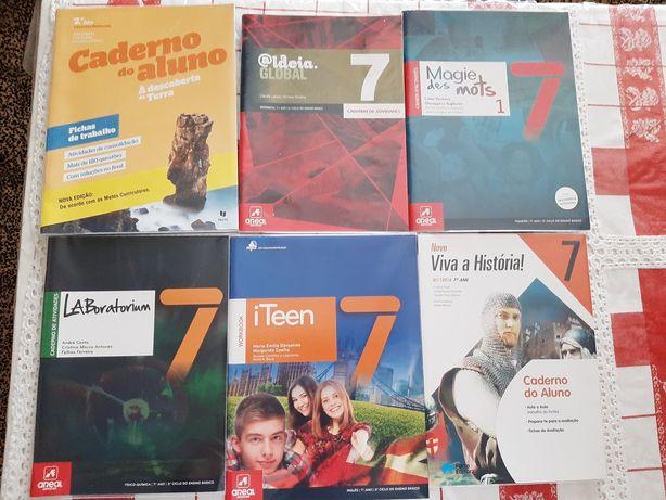 Livros escolares 7° ano praticamente novos