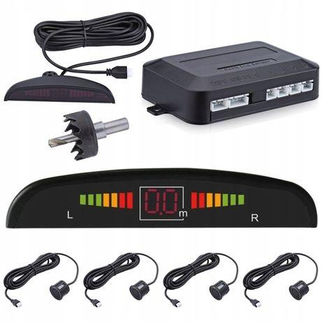 4 x CZUJNIKI PARKOWANIA czujnik COFANIA Parctronic LED LCD 4 punktowy
