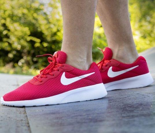 Кроссовки мужские летные Nike Tanjun красные найк сетка на лето