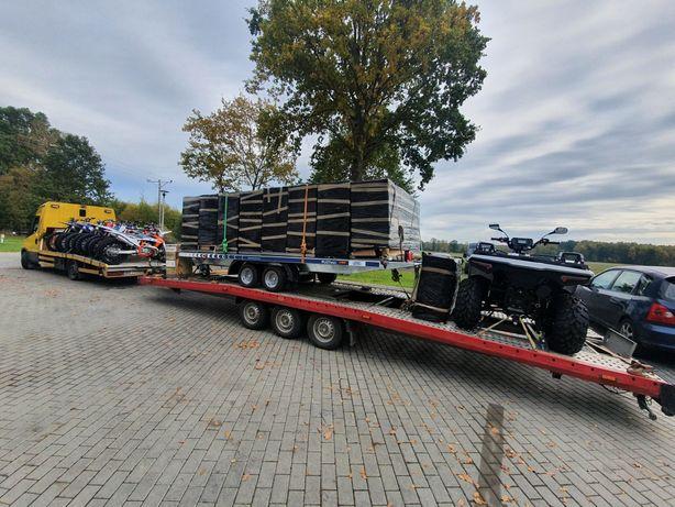 Transport aut pojazdów ciężarowych łodzi jachtów maszyn rolniczych