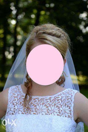Romantyczna suknia ślubna rozmiar 38 40 42+ gratisy!!!