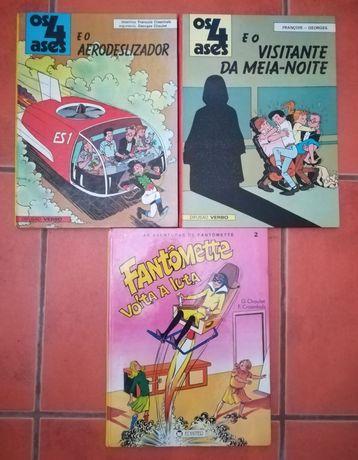 20 Livros Yakari, 4 Ases, Fantômete, e Tintin