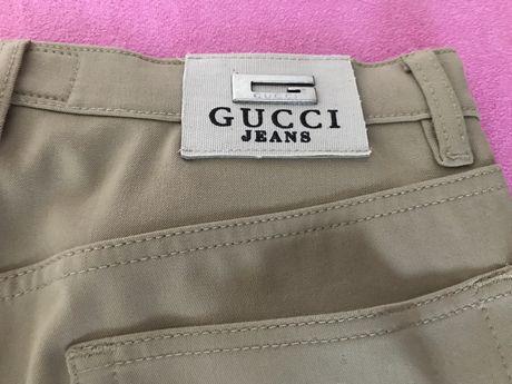 Spodnie męskie Gucci beżowe