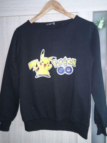 Продам свитшот черного цвета с рисунком Покемон на девочку размер 42
